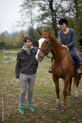 Leinwandbild Motiv Amici e Cavalli 10