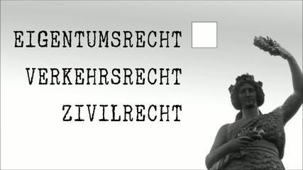 Anwaltskanzlei, Justitia  Verkehrsrecht Clip