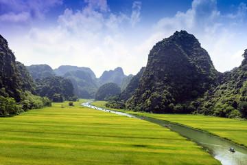 Typical landscape of Vietnam village