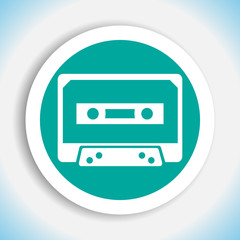 music tape vector icon