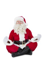 Santa claus sitting in lotus pose