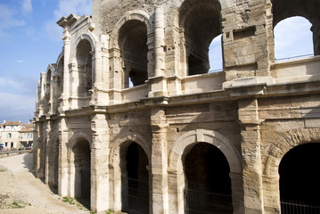 Arles Amphitheatre - a Roman arena in the southern French