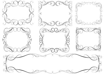 Calligraphic set frames