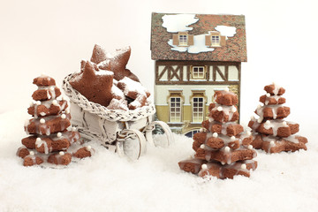 homemade Gingerbread christmas tree