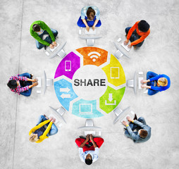 People Social Networking and Sharing Concept