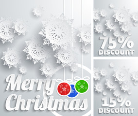 Merry Christmas background discount set