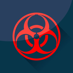 Biohazard sign and symbol.