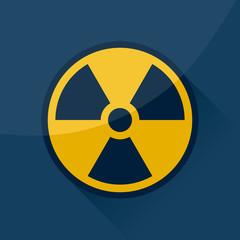 Radioactive sign and symbol.