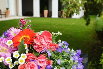 Outdoor Wedding Bridal Bouquet  Close-up