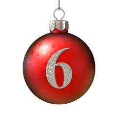 Christmas ball font number 6