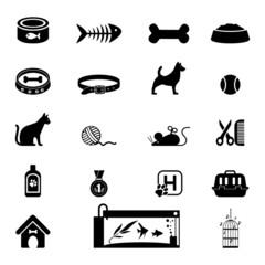 Pets icon set
