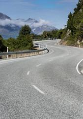 New Zealand mountain road