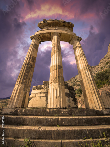 Fotobehang Athene The Tholos, Delphi, Greece