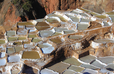 View of Salt ponds, Maras, Cuzco