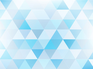 abstract background of blue triangle