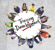 Group of People and word Training Development - 72988190
