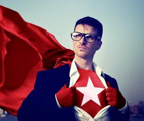 Strong Superhero Businessman Star Concepts