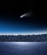 Komet im Winter
