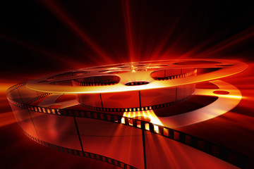 Film reel with shine