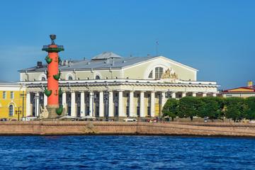 Arrow Vasilevsky Island, Rostral Columns, the old Stock Exchange