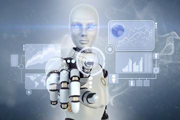 Robot using a futuristic interface