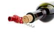 cork-screw and bottle of wine