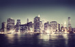 Obrazy na płótnie, fototapety, zdjęcia, fotoobrazy drukowane : New York City Panorama Night Concepts