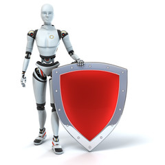 Defender. Android with a shield