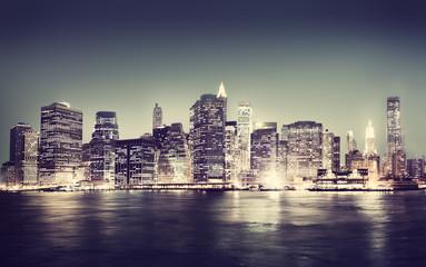 New York City Panorama Night Concepts