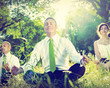 Business People Yoga Relaxation Wellbeing Concept - 72990330