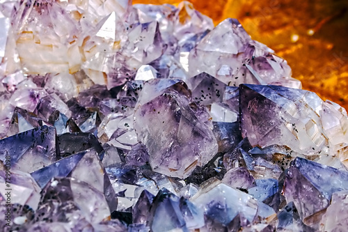Deurstickers Edelsteen Background with energy crystals