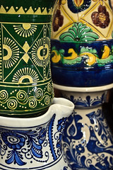 Detail of Romanian traditional pottery-5