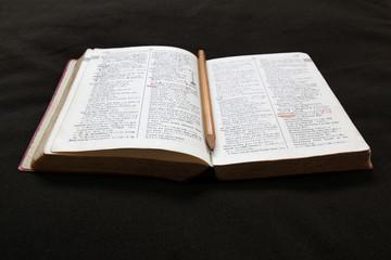 辞書と鉛筆