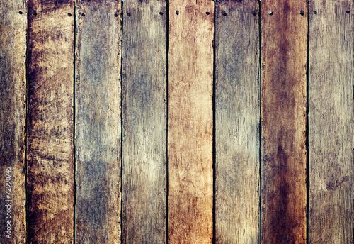 Foto op Canvas Wand Wooden Fence