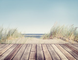Fototapety Beach and Wooden Plank