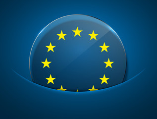 vector modern euro flag design.