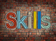 canvas print picture - Skills Word Concepts Isolated on Background
