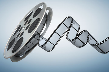 Film reel . Clipping path included