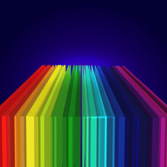 Rainbow colored 3d barcode background.