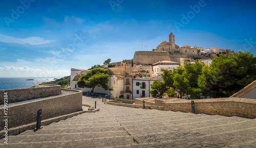 Fotobehang Vestingwerk Ibiza old town