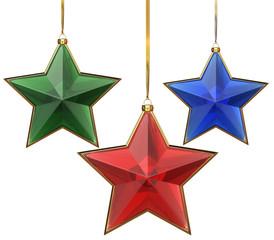 Glass xmas stars