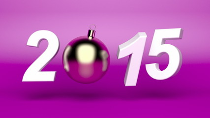 Happy new year 2015 animation with Christmas ball