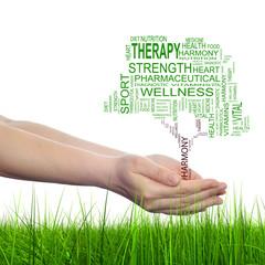 Conceptual tree health word cloud