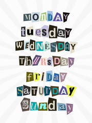 semaine anonyme anglais