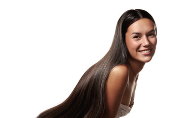 woman with a beauty long hair