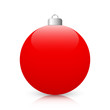 Red Christmas Ball with Reflection