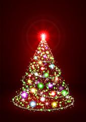 Weihnachtsbaum, abstrakt,Hintergrund, rot, abstract fir Tree,red