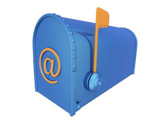 Mailbox with E-mail symbol