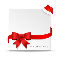 Weihnachten Karte Schild Schleife