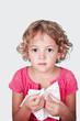 Obrazy na płótnie, fototapety, zdjęcia, fotoobrazy drukowane : bambina con raffreddore